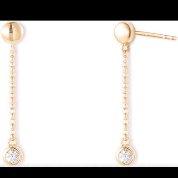 Mejuri Sapphire Drop Earrings